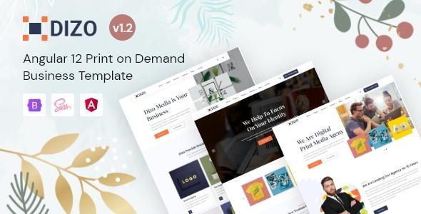 Dizo - Angular 12 Print on Demand Template