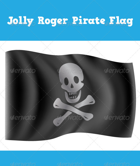 Jolly Roger Pirate Flag - Abstract Conceptual
