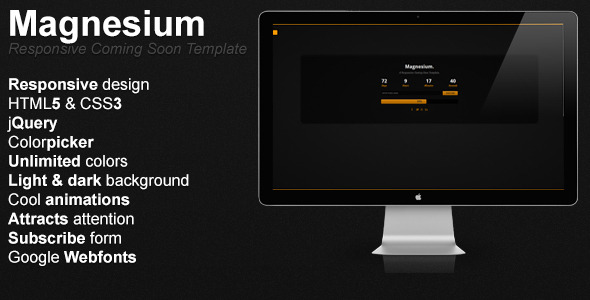 Magnesium - Responsive Coming Soon Template