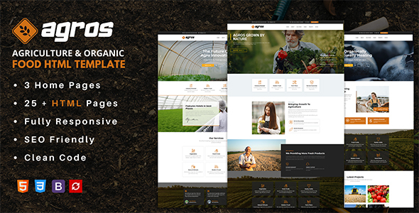 Agros - Agriculture & Organic Food HTML Template