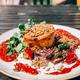 Vegetarian option of Sunday Roast in Pub - PhotoDune Item for Sale
