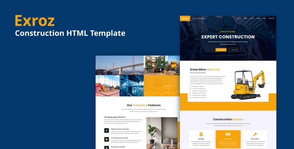 Excellent Exroz - Construction HTML Template