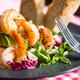 Shrimp salad served in american restaurant - PhotoDune Item for Sale