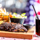 Ribs with salad, french fries and cola served in american restaurant - PhotoDune Item for Sale