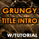 Grunge Title Introduction - VideoHive Item for Sale