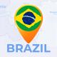 Brazil Map - Federative Republic of Brazil Travel Map - VideoHive Item for Sale