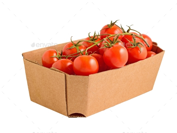 Box of Tomatoes - Stock Photo - Images