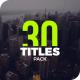 30 Titles Pack | DaVinci Resolve - VideoHive Item for Sale