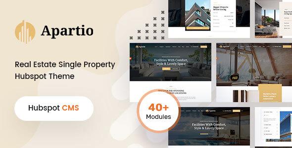 Apartio - Single Property  HubSpot theme