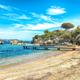 Captivating  view of  beach on Porto Rafael resort. Picturesque seascape of Mediterranean sea. - PhotoDune Item for Sale