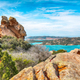 Breathtaking view on Palau  from popular travel destination Bear Rock (Roccia dell'Orso). - PhotoDune Item for Sale