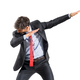 Businessman in suit doing a dab dance pose - PhotoDune Item for Sale