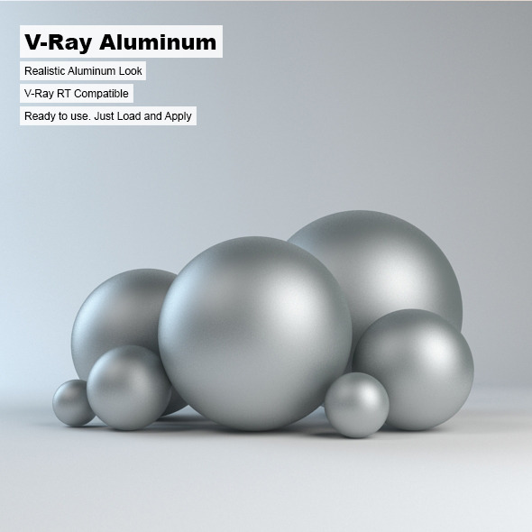 V-Ray Aluminum Material