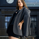 Stylish woman wearing corset and jacket posing outdoors - PhotoDune Item for Sale