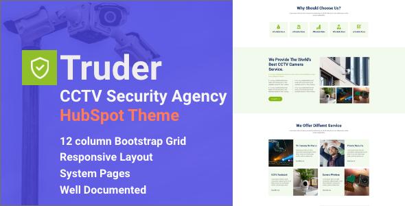 Truder – CCTV Security Service HubSpot Theme