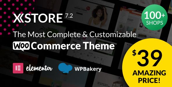 XStore |  Highly Customizable WooCommerce Theme & WordPress Nulled