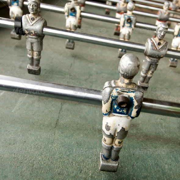 old foozball - Stock Photo - Images