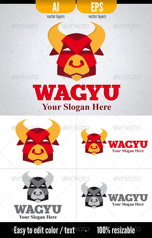 Wagyu - Logo Template - Animals Logo Templates
