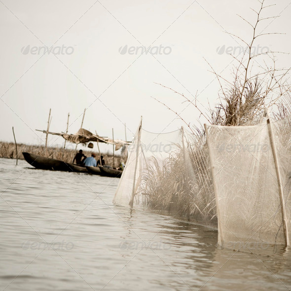 Boating in Africa - Stock Photo - Images