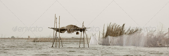 Stilt hut - Stock Photo - Images