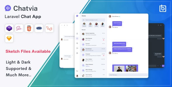 Download Chatvia – Laravel Pusher Chat App Free Nulled