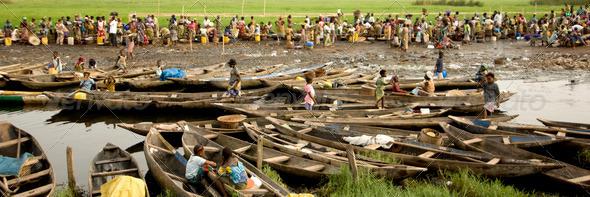 Market of Ganvie in Benin - Stock Photo - Images