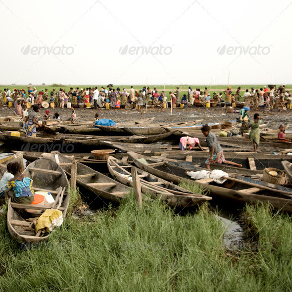 Market of Ganvie in Benin - Stock Photo - Images