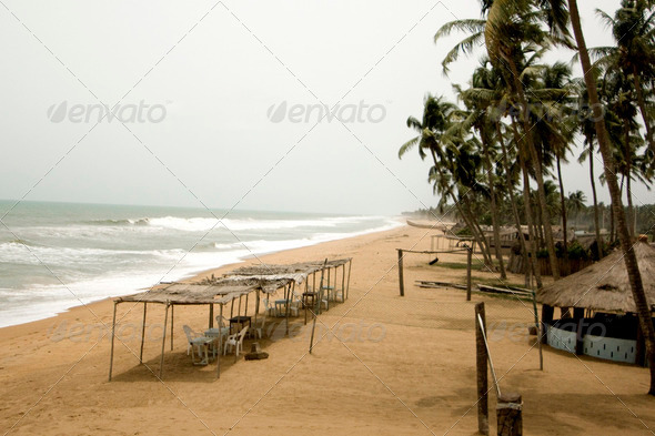 A beach in Benin - Stock Photo - Images