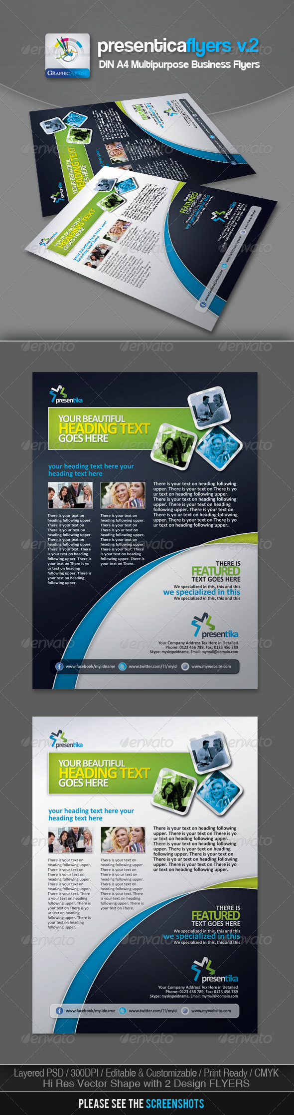 Presentica Corporate Business Flyers v.2 - Corporate Flyers