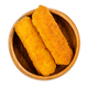 Deep-fried vegan fishless fingers, ready to eat,  in a wooden bowl - PhotoDune Item for Sale