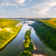 Aerial drone photo through majestic river Dnister - PhotoDune Item for Sale