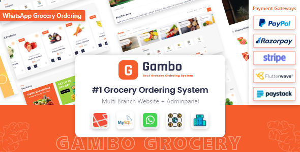 Download Gambo – Online Grocery Ordering System + Whatsapp Order Free Nulled