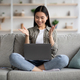 Happy asian lady having online party with her girlfriends - PhotoDune Item for Sale