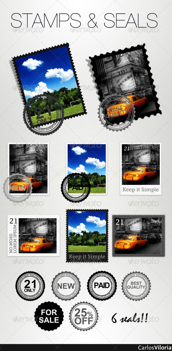Stamps And Seals - Photo Templates Graphics