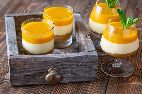 Mango cheesecake - Stock Photo - Images