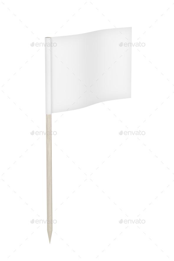 White toothpick flag - Stock Photo - Images