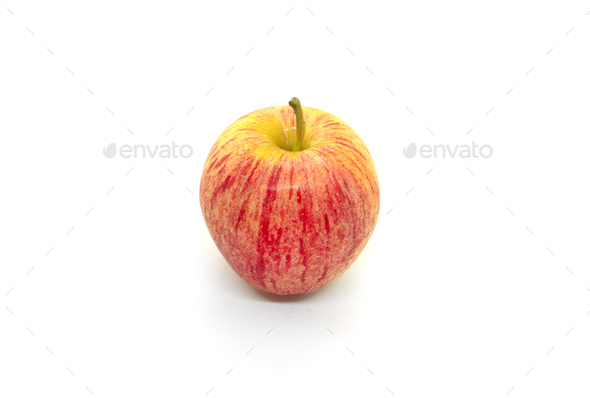 Tasty juicy apple on a white background - Stock Photo - Images