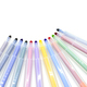 Open multicolored markers on a white background - PhotoDune Item for Sale