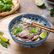Rice noodles soup with beef and herbs, vietnamese cuisine - PhotoDune Item for Sale