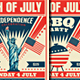 4th of July / July 4th BBQ Flyers
