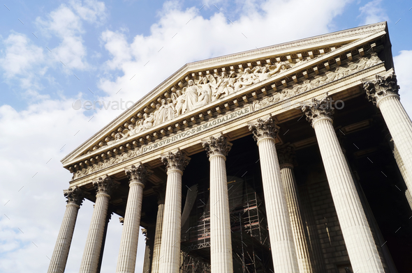 La Madeleine in Paris - Stock Photo - Images