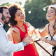 Group of beautiful people friends celebrating, dancing and having fun together outdoor - PhotoDune Item for Sale