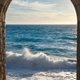 Seashore view through the arch - PhotoDune Item for Sale