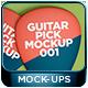 Guitar Pick Mockup 001