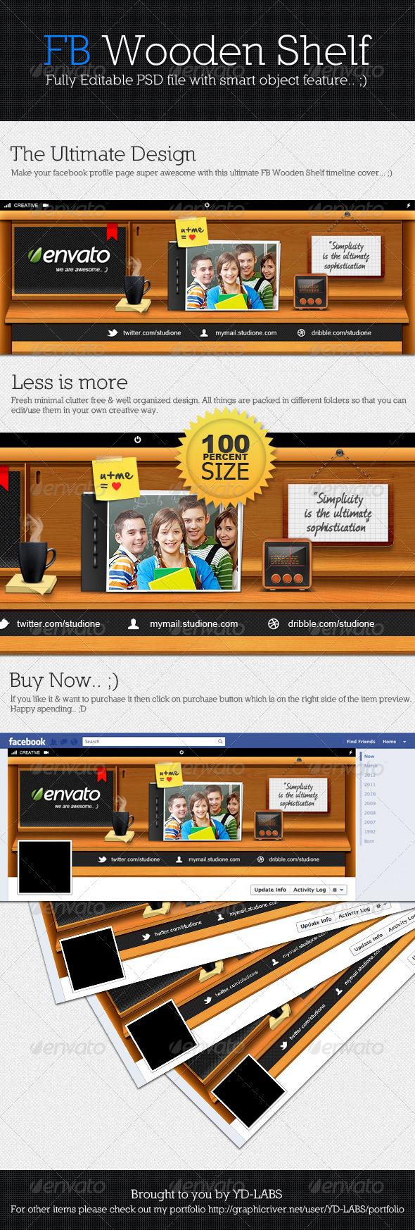 Facebook Wooden Shelf - Facebook Timeline Covers Social Media