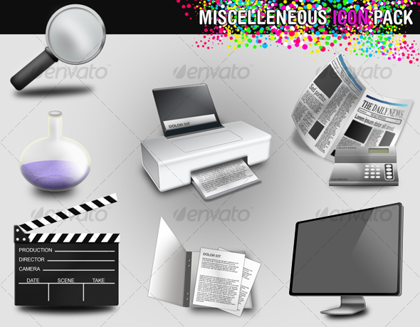 Miscellaneous icon pack - Objects Icons