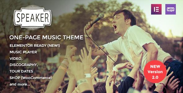 Extraordinary Speaker - One-Page Music Wordpress Theme