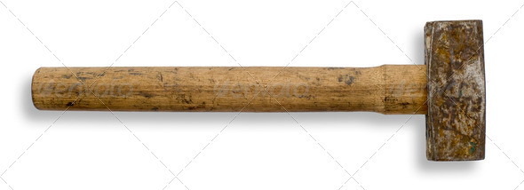 Old hammer - Stock Photo - Images