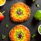 Rainbow veggie bell peppers pizza - PhotoDune Item for Sale