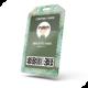 Card Badge Name Tag Holder Vertical Soft Clear PVC Mockup